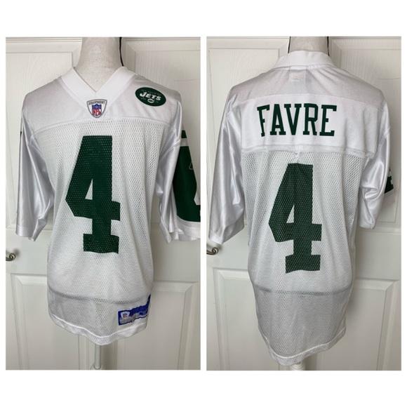super popular 531f6 ee516 BRETT FAVRE New York Jets Football Jersey Sz Small